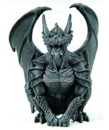6.25 Inch Resin Medieval Sitting Guardian Gargoyle with Wings Statue - $24.97 CAD