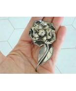 Vintage Georg Jensen USA Sterling Silver #124 Flower Pin Brooch LP  LaPa... - $296.99
