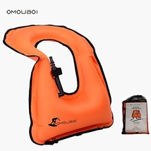 OMOUBOI Unisex Adult Portable Inflatable Canvas Life Jacket Snorkel Vest... - $23.81