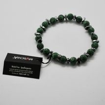 Silver Bracelet 925 with Hematite and Jasper BWI-1 Made in Italy by Maschia image 5