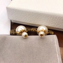 """Authentic Christian Dior """"DIOR TRIBALES"""" Earrings Gold Crystal Star Wasp Charms  image 3"""