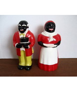 Black Americana Uncle Mose and Aunt Jemima Salt and Pepper Shaker Set - ... - $49.00