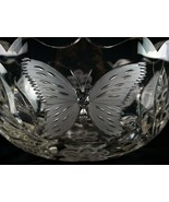 American Brilliant Cut Butterfly & Floral Bowl, Antique ABP Glass Pairpo... - $122.50