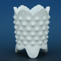 Vintage Fenton Art Glass Pre Logo Milk Glass Hobnail Toothpick Holder