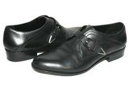 ❤️ DOLCE VITA Rustie Black Genuine Leather Buckled Oxfords 7.5 M GREAT! ... - $37.04