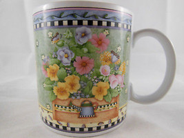 Debbie Mumm Sakura SPRING BOUQUET MUG 1999 Florals in mixed colors Cosmo... - $8.90