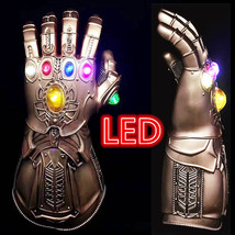 Thanos Infinity War LED Gauntlet Glowing Lights Glove Avengers 3 Cosplay... - $49.27