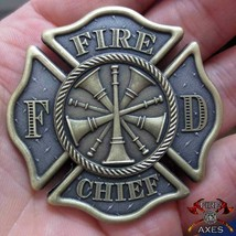 "FIRE CHIEF MALTESE CHAOS 2"" 3D CHALLENGE COIN - $27.07"