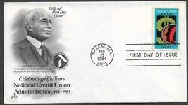 USA 1984 Sc 2075 Money CREDIT UNION ACT 50 Years ARTCRAFT FDC - $0.99