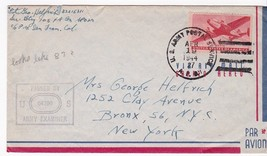 EXAMINED MAIL WWII US ARMY POSTAL SERVICE APRIL 19 1944 - $3.54