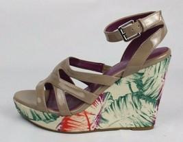 Calvin Klein Jennah women's wedge heel sandals buckle nude size 7M - $22.99