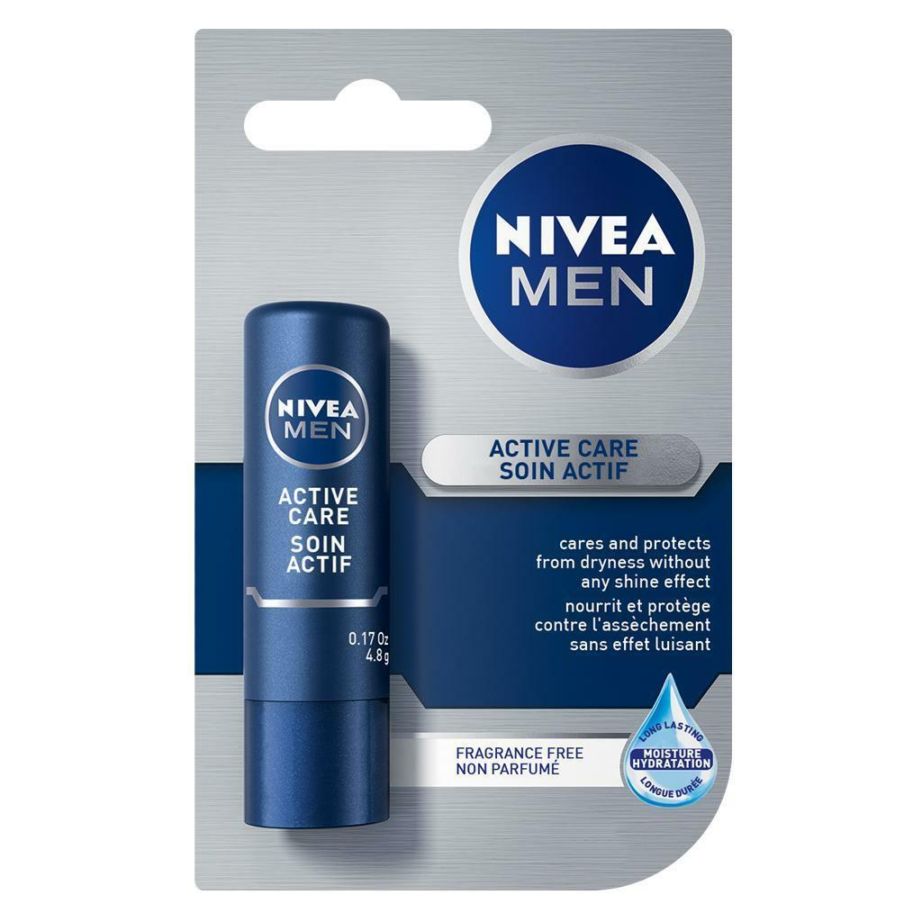 Primary image for Nivea MEN Active Care lip balm/ chapstick -1 pack - FREE SHIPPING