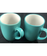 "Royal Doulton Teal Color Mugs Coffee or Tea Cups 4"" x 3"" Lot of 2 Mugs - $17.82"