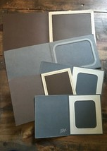 5 Unbranded Picture Frames-Brown Colored -Cardboard-Single Photo-Stand-Foldable - $15.00