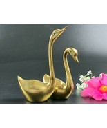Vintage Brass Pair of Swans - Made in Korea - $40.00