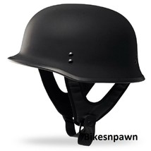 New 2XL Flat Black Fly Racing DOT Approved German Beanie STyle Motorcycle Helmet image 1