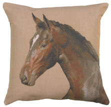 Close up On Horse 1 French Couch Cushion - $63.00
