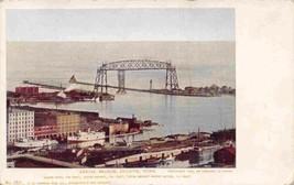 Aerial Bridge Harbor Panorama Duluth Minnesota 1905c postcard - $6.93