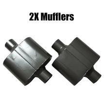 "6PCS Universal 3"" Single Chamber Performance Race Exhaust Mufflers - $43.99"