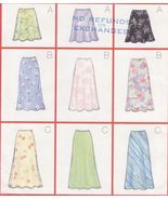 Misses & Petite Very Easy Bias A-Line Skirt 3 Lengths Sew Pattern 18-22 - $12.99