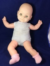 "Uneeda Doll 21"" Baby Soft Body Sleep Eyes 1983 Shoes - $28.71"