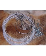 "3   60"" 3/32  Micro Lock Raccoon,fox,coyote,bobcat  Snares  Trapping NEW... - $10.70"