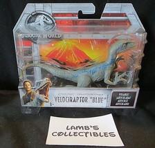 "Jurassic World velociraptor Blue 6"" long posable attack pack action fig ... - $21.54"