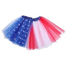 LUOEM Kids Tutu Skirt American Flag Tutu July 4th Independence Day Party... - €12,35 EUR