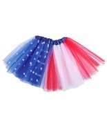LUOEM Kids Tutu Skirt American Flag Tutu July 4th Independence Day Party... - £10.40 GBP