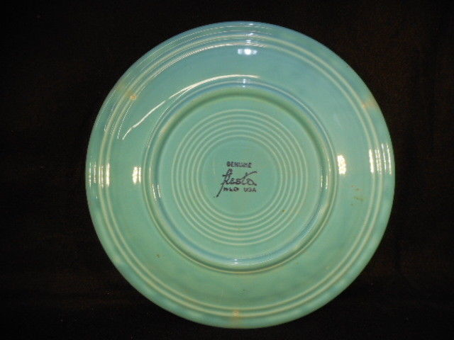 Vintage Fiesta Turquoise Homer Laughlin USA Dinner Plate 9 1/2""