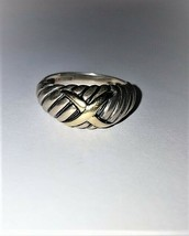 Estate Signed ALEX © Sterling and 14K Dome Ring 4.7 Grams Lot 4 - $60.60