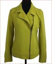 new Tahari women jacket 53% wool mustard yellow green sz XS - $52.46