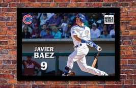 """MLB World Series   Javier Baez Poster   Chicago Cubs   19"""" wide x 13"""" tall - $14.95"""