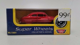 Motor Max Super Wheels Collectors Edition #73601 Die-cast Car Red NIP - $9.78