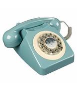 Rotary Design Retro Landline Phone for Home, French Blue - $44.68