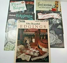 Crochet Patterns Lot 5 Leaflets 100 + Patterns Edgings & Tatting Coats & Clarks  - $29.99