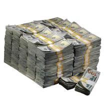 New Style $1,000,000 Aged Blank Filler Prop Money Bundle Realistic Prop Money image 1