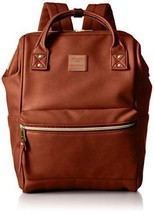 Anello Japan Synthetic Leather Backpack Large AT-B1211 Brown EMS - $76.81