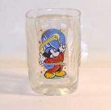 Clear Glass Mickey Mouse Sorcerer McDonald's Walt Disney World 2000 Celebration - $8.91