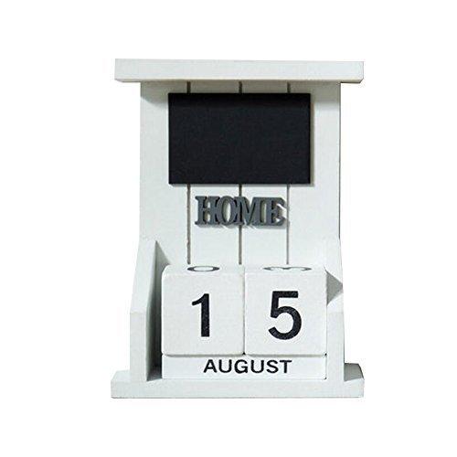 George Jimmy Wooden Permanent Calendar Creative Calendar Decoration for Home/Off - $36.61