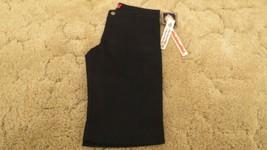 Dickies Girl's Shorts Stretch Fabric Black Uniform Pants Size 1 30x13 - $12.82