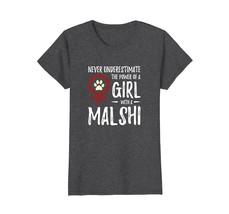 Power of Girl With Malshi T-Shirt for Feminist Dog Mom - $19.99+