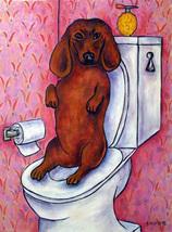 animal Art oil painting printed on canvas home decor dachshund dog  - $14.99+