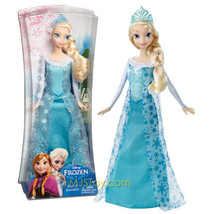 "NEW Mattel 2013 Disney Frozen 12"" Doll Elsa of Arendelle Blue Gown & Tiara RARE - $44.99"