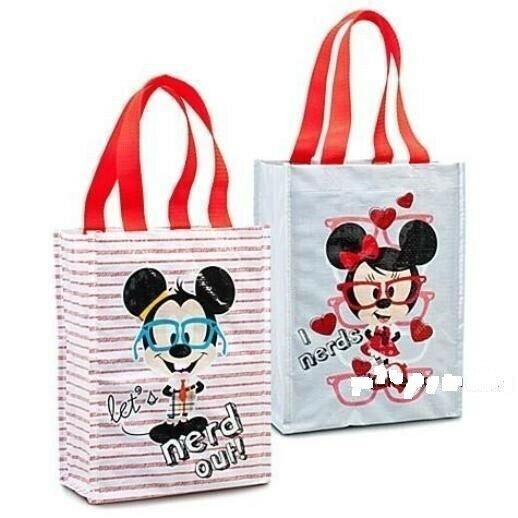 Primary image for 6 x Disney Nerds Mickey Mouse and Minnie Mouse New Reusable Gift Bag Set NEW