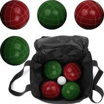 Hey! Play! Bocce Ball Set- Regulation Outdoor Family Bocce Game for Back... - $35.86