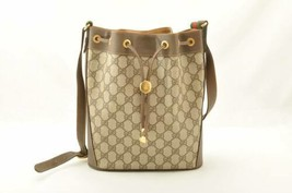 GUCCI GG Sherry Line Shoulder Bag Red Green Auth 10519 - $398.00