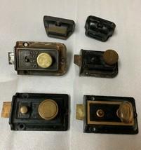 Lot of 4 Antique Vintage Deadbolt Door Locks SAFE Eagle Yale  - $67.72