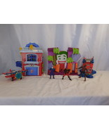 Spider man Super Hero Squad Green Goblin Lab Garage + Vehicle + Bi Plane... - $44.02