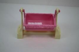 FISHER PRICE Loving Family Dollhouse Swinging Bassinet Cradle Crib - $4.94